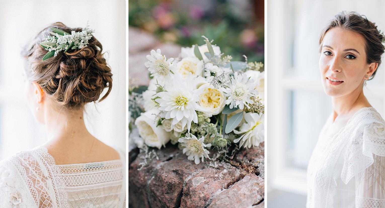 bride in John Galliano