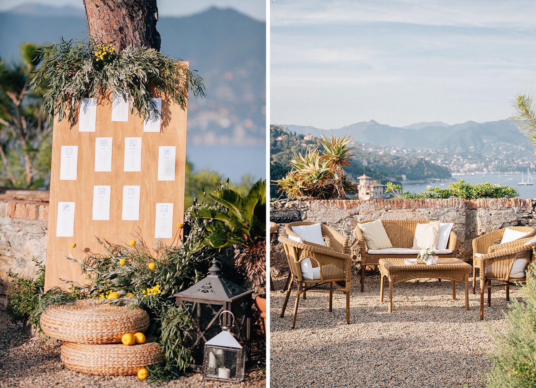 wedding details Castello Brown Portofino