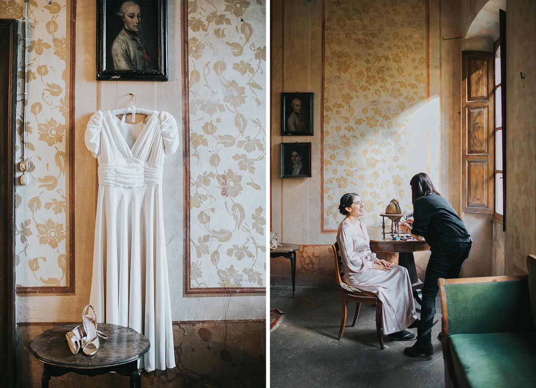 aito da sposa a Cascina Lago Scuro Cremona
