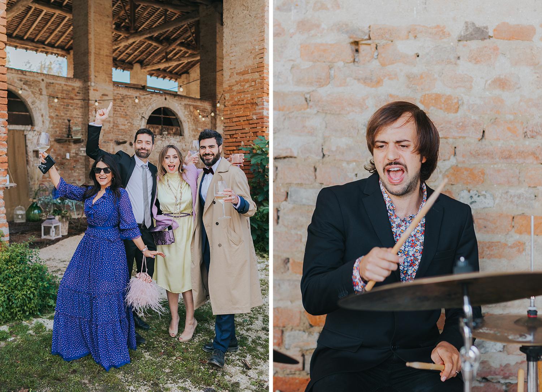 festa di matrimonio all'aperto Cascina Lago Scuro Cremona